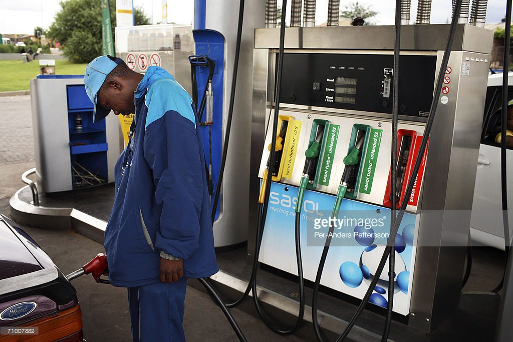 Petrol attendant in South Africa